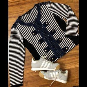 ORLY jacket/ blazer black and white stripes.